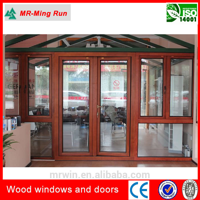High quality wood window german hardware solid wood for Window in german