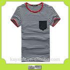 custom fashion stripes polyester cheap blank quick dry t-shirt