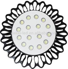 Unique design Sun flower lights IP65 black 200w led high bay light