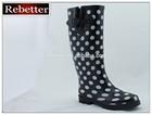 Sexy rubber women rain boots fashion printing