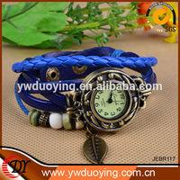 2014 High Quality Women Genuine Leather Vintage Alloy Watch Bracelets