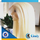 silk straight wave modern female flashing lighted hair bleach blonde 613 lace wig