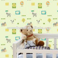 healthy baby room decorative wallpaper horse patterns natural animal wallpaper