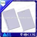 Iso pvc rfid tarjeta / ISO cr80 tarjeta en blanco con T5577 chip para llave de hotel