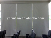 Durable save energy natural special motorised corner window 2014 latest design high quality 100% polyester