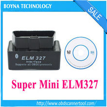 Black !! Universal Super Mini ELM327 Bluetooth OBD OBD2 mini elm 327 bluetooth for Android Torque ELM 327 Car Code Scanner