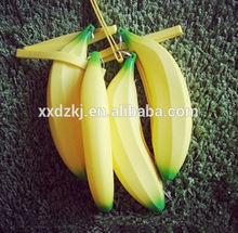 School supplies banana shape silicone pencil cases pen bags