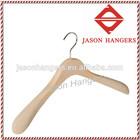 DL0734 Flocked clothes hanger with shoulder pads