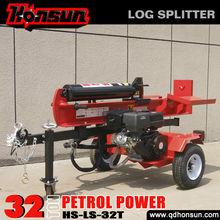 Garden tools recoil/electric start ram travel 610mm best seller screw 32 tonne trailer mounted wood splitter