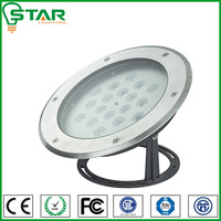 stainless steel + toughed galss cree led underwater light