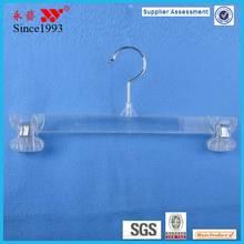 wardrobe padded plastic trouser hanger with clip