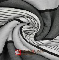 CVC Printed Fleece stripes knitted fabric super soft for sportswear