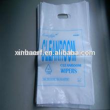 White HDPE/LDPE Die cut bag 1 color 2 side print