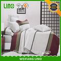 Textiles para el hogar del bebé cuna/diseño liso hoja de cama/telas textiles para cubiertas de cama