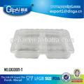 Desechable plástico 3 compartimentos contenedor para comida para llevar