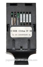 1*9 1310nm TTL SM duplex 0-500Kb/s optical transceiver