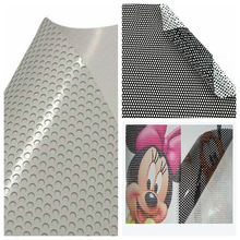pvc self adhesive vinyl one way vision window/perforated film for prting materials