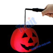 23*23*19cm protable plastic halloween pumpkin for halloween with handle