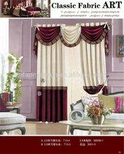 Latest curtain designs double swag curtain with valance curtain