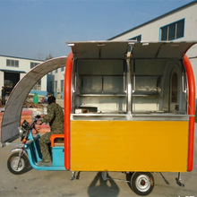 hot sales electric stainless steel mobile kitchen car