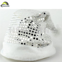 Hot Selling Musical Knitted Silver Christmas Santa Hat