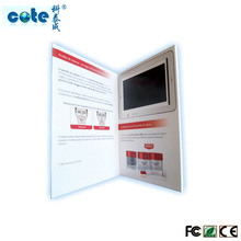 Very Attractive Products Customized Printing 7 inch Video greeting Card / Video Notebook Used in business advertising