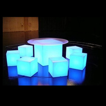 LI-Battery rechargeable Remote IR Control Led Lighted Cube table, LED Cube, LED Cube Table