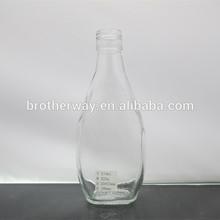 wholesale salad dressing/tomato sauce round glass jam jar/bottle 7oz with plastic caps