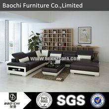 Baochi new trend sofa,wood furniture recycled furniture,leather sofa set C1188