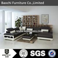 Baochi good life furniture,ready to assemble solid wood furniture,7 seater sofa set C1128-B
