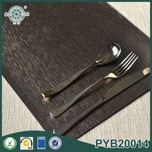 wholesale cheap rectangle pvc place mat restaurant coffee mat bar drink mat custom pp placemats in black