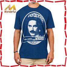 blue white stripe t-shirt cotton men slim fit cropped t shirts short sleeve