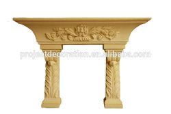 2014 hot sale strength sandstone decorative fireplace