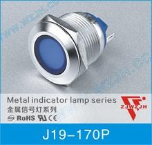 WZJH 19mm metal waterproof 12v led pilot light 6 colors signal lamp CE