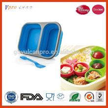 Silicone Non-Stick Food Containers /Silicone Folding Lunch Box