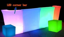 Night club glowing plastic color changing led lighted bar counter top