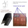 C type contain rubber door seal / EPDM rubber container waterproof gasket