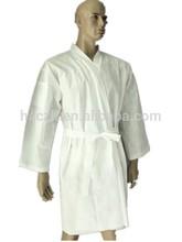 Dispsoable Nonwoven bathrobe,Disposable bathrobe for SPA, Disposable kimono