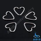 Unique design ear tragus piercing jewelry 16g steel Heart shap
