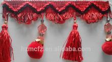 China Pompom Curtain decorative fringe of home textile