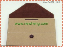 Updated most popular envelope leather case for ipad 2/3/4