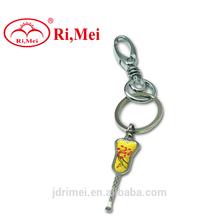 New design personalized metal earpick keychain