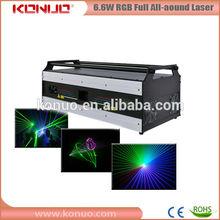 6.6W RGB All-around dj laser night club lights