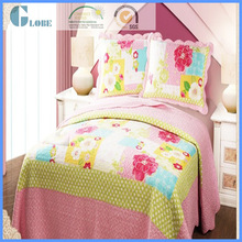 children size cotton cartoon printing patchwork bedsheet