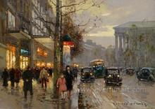 Wholesale impressionist paris street oil paintings for home decor
