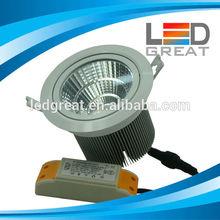 High lumens beam angle adjustable cri 85ra bridgelux cob led downlight 30w
