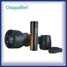 2014 New Uniquefire uf-1407 convex lens Zoom Red/Green/White/IR Flashlight
