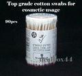 de madera de palo bastoncillos de algodón para uso cosmético