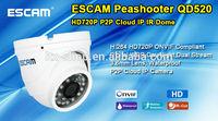 ESCAM Peashooter QD520 HD720P P2P Cloud IP IR Dome