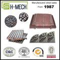 manganeso de alta aleación de acero de la placa de molienda para el molino de bolas
